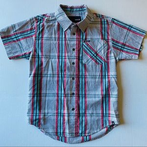 Hurley striped Button Down  Boys Shirt Size:S